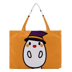 Halloween Ghost Orange Medium Tote Bag