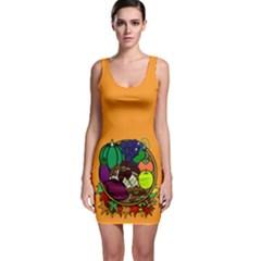Healthy Vegetables Food Bodycon Dress