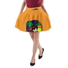 Healthy Vegetables Food A Line Pocket Skirt