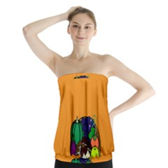 Healthy Vegetables Food Strapless Top