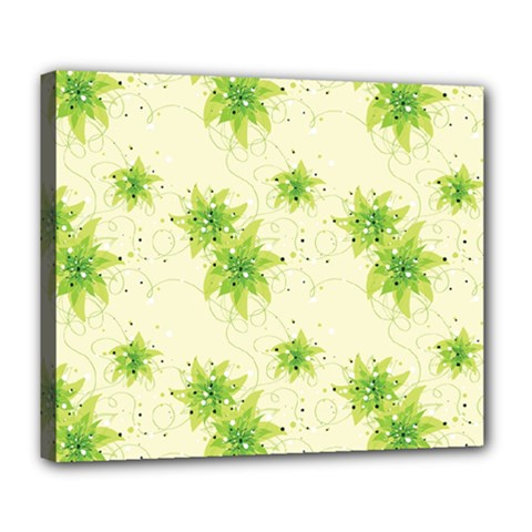 Leaf Green Star Beauty Deluxe Canvas 24  X 20
