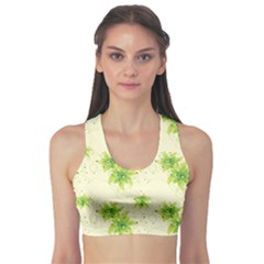 Leaf Green Star Beauty Sports Bra