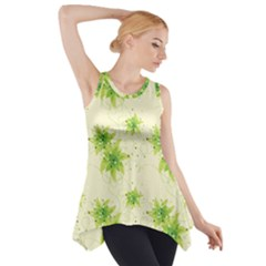 Leaf Green Star Beauty Side Drop Tank Tunic