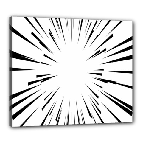 Line Black Sun Arrow Canvas 24  X 20