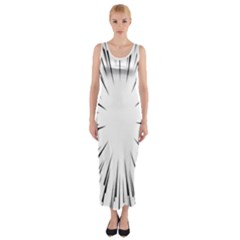 Line Black Sun Arrow Fitted Maxi Dress
