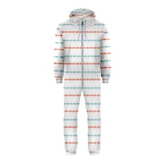 Line Polka Dots Blue Red Sexy Hooded Jumpsuit (kids)