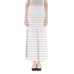 Line Polka Dots Blue Red Sexy Full Length Maxi Skirt