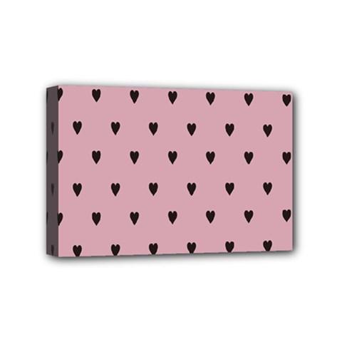 Love Black Pink Valentine Mini Canvas 6  X 4