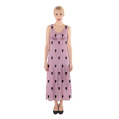 Love Black Pink Valentine Sleeveless Maxi Dress