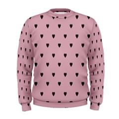 Love Black Pink Valentine Men s Sweatshirt