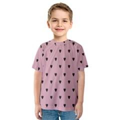 Love Black Pink Valentine Kids  Sport Mesh Tee