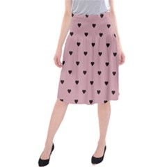 Love Black Pink Valentine Midi Beach Skirt