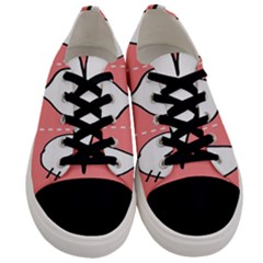 Love Heart Valentine Pink White Sexy Men s Low Top Canvas Sneakers
