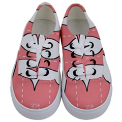 Love Heart Valentine Pink White Sexy Kids  Classic Low Top Sneakers