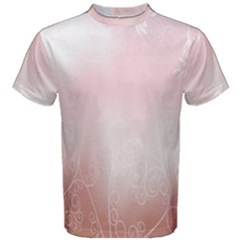 Love Heart Pink Valentine Flower Leaf Men s Cotton Tee