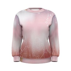 Love Heart Pink Valentine Flower Leaf Women s Sweatshirt
