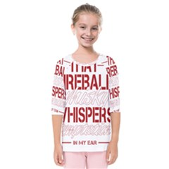 Fireball Whiskey Humor  Kids  Quarter Sleeve Raglan Tee