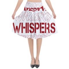 Fireball Whiskey Humor  Flared Midi Skirt