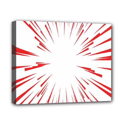 Line Red Sun Arrow Canvas 10  X 8
