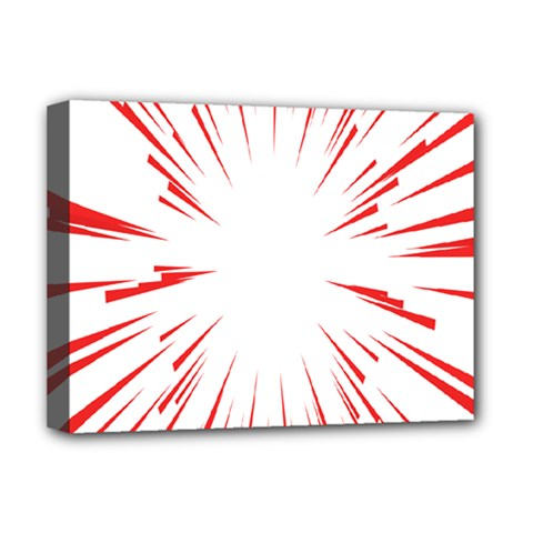 Line Red Sun Arrow Deluxe Canvas 16  X 12