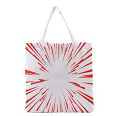 Line Red Sun Arrow Grocery Tote Bag