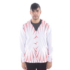 Line Red Sun Arrow Hooded Wind Breaker (men)