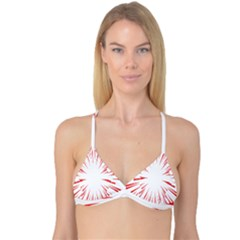 Line Red Sun Arrow Reversible Tri Bikini Top
