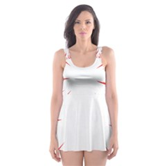 Line Red Sun Arrow Skater Dress Swimsuit