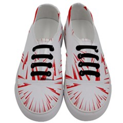 Line Red Sun Arrow Men s Classic Low Top Sneakers