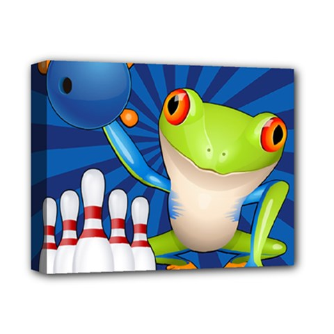 Tree Frog Bowling Deluxe Canvas 14  X 11