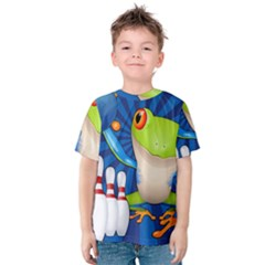 Tree Frog Bowling Kids  Cotton Tee