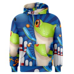 Tree Frog Bowling Men s Pullover Hoodie