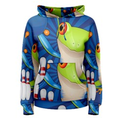 Tree Frog Bowling Women s Pullover Hoodie