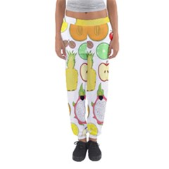 Mango Fruit Pieces Watermelon Dragon Passion Fruit Apple Strawberry Pineapple Melon Women s Jogger Sweatpants