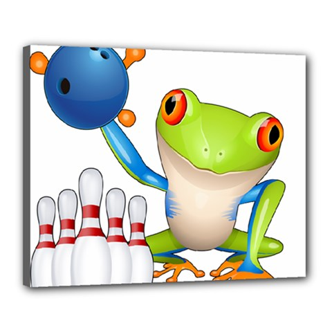 Tree Frog Bowler Canvas 20  X 16
