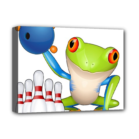 Tree Frog Bowler Deluxe Canvas 16  X 12