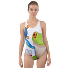 Tree Frog Bowler Cut Out Back One Piece Swimsuit
