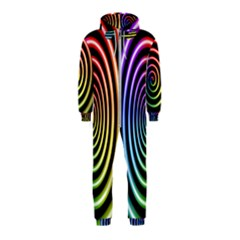 Hypnotic Circle Rainbow Hooded Jumpsuit (kids)