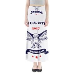 New U S  Citizen Eagle 2017  Full Length Maxi Skirt