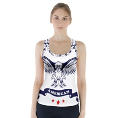 New U S  Citizen Eagle 2017  Racer Back Sports Top