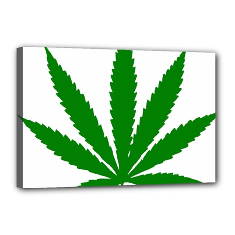 Marijuana Weed Drugs Neon Cannabis Green Leaf Sign Canvas 18  X 12