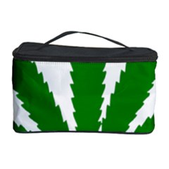 Marijuana Weed Drugs Neon Cannabis Green Leaf Sign Cosmetic Storage Case