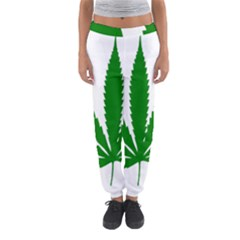 Marijuana Weed Drugs Neon Cannabis Green Leaf Sign Women s Jogger Sweatpants