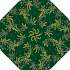 Marijuana Cannabis Rainbow Love Green Yellow Leaf Folding Umbrellas