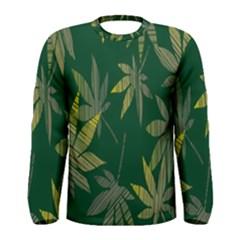 Marijuana Cannabis Rainbow Love Green Yellow Leaf Men s Long Sleeve Tee