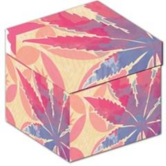Marijuana Heart Cannabis Rainbow Pink Cloud Storage Stool 12