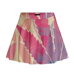Marijuana Heart Cannabis Rainbow Pink Cloud Mini Flare Skirt