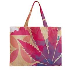 Marijuana Heart Cannabis Rainbow Pink Cloud Zipper Medium Tote Bag