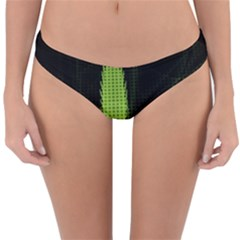 Marijuana Weed Drugs Neon Green Black Light Reversible Hipster Bikini Bottoms