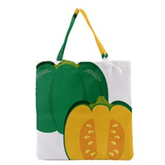 Pumpkin Peppers Green Yellow Grocery Tote Bag